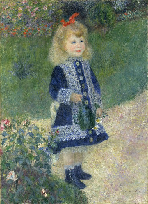 Auguste Renoir - A Girl with a Watering Can. National Gallery of Art (Washington)