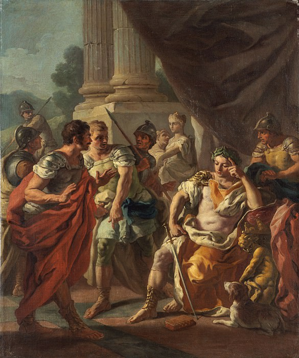 Francesco de Mura - Alexander Condemning False Praise. National Gallery of Art (Washington)
