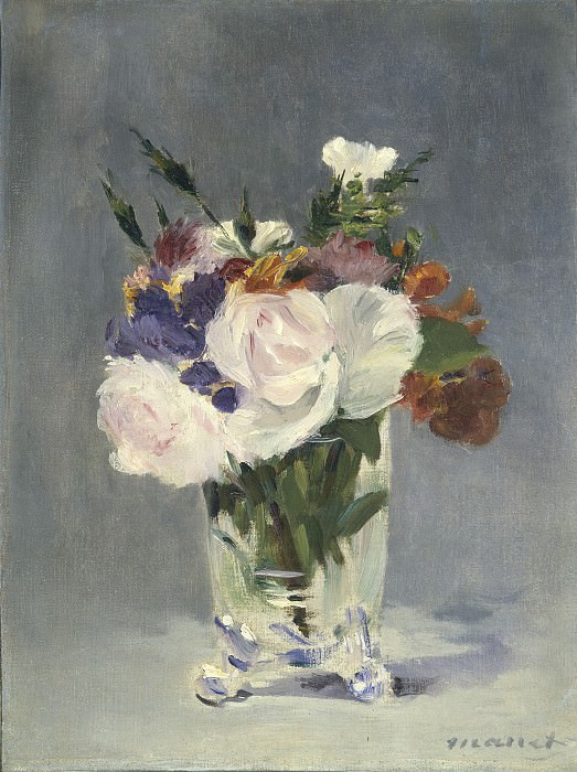 Edouard Manet - Flowers in a Crystal Vase. National Gallery of Art (Washington)