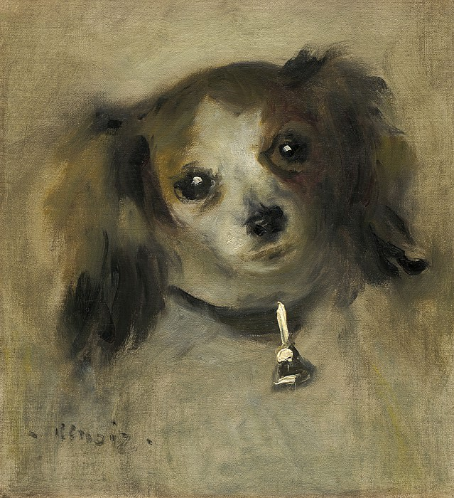 Auguste Renoir - Head of a Dog. National Gallery of Art (Washington)