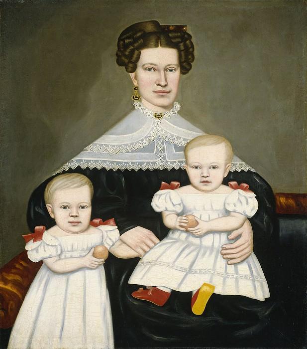 Филд, Ераст Солсбери - Супруга Пола Смита Палмера и её близнецы. Национальная галерея искусств (Вашингтон)