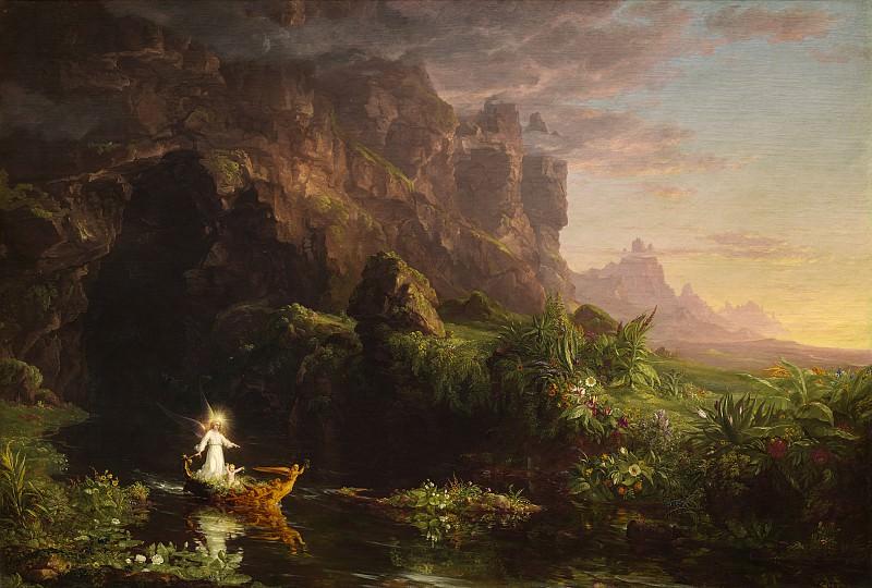 Thomas Cole - The Voyage of Life: Childhood. National Gallery of Art (Washington)