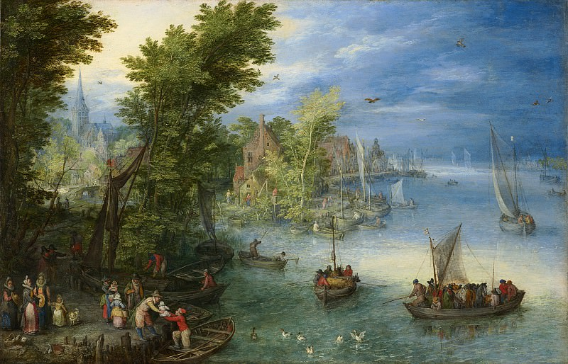 Jan Brueghel the Elder - River Landscape. National Gallery of Art (Washington)