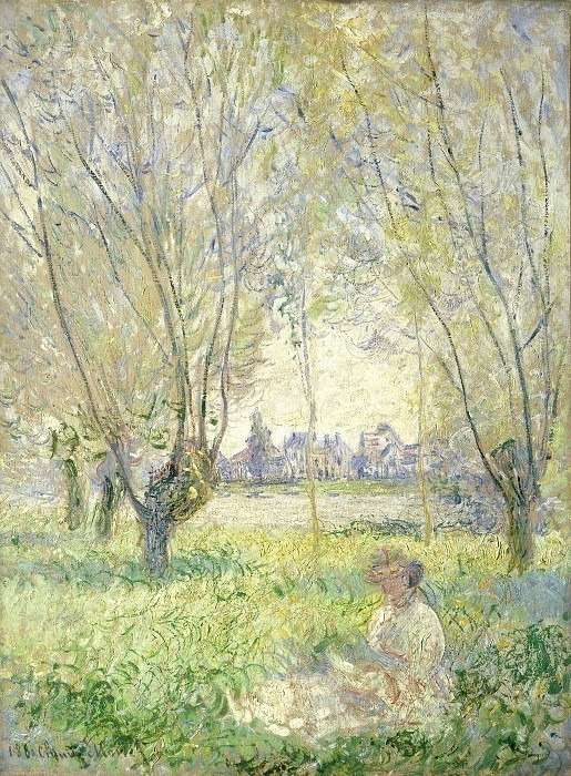 Claude Monet - Woman Seated under the Willows. National Gallery of Art (Washington)