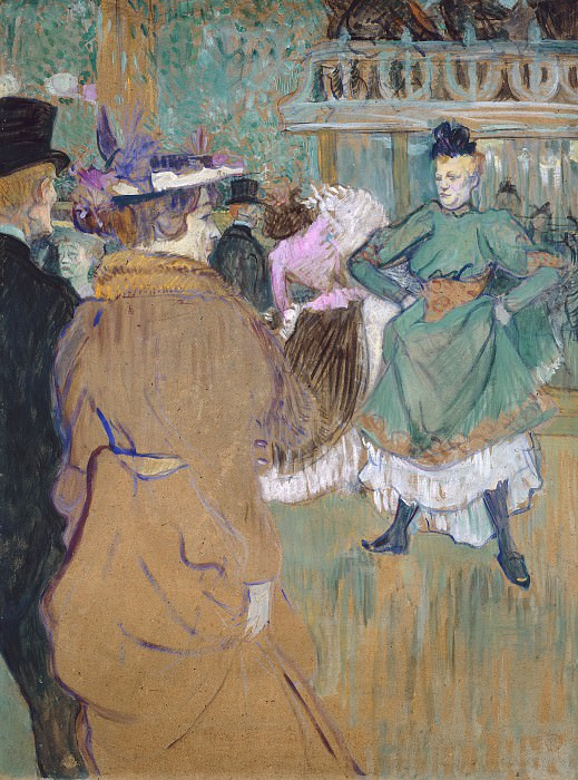 Henri de Toulouse-Lautrec - Quadrille at the Moulin Rouge. National Gallery of Art (Washington)