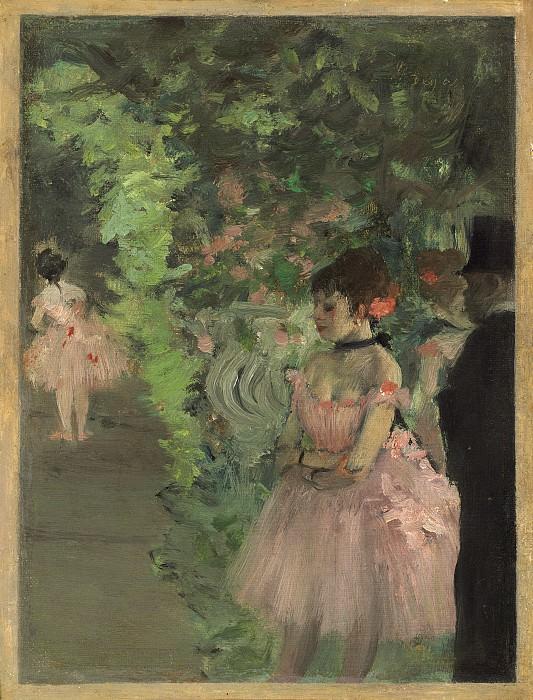 Edgar Degas - Dancers Backstage. National Gallery of Art (Washington)