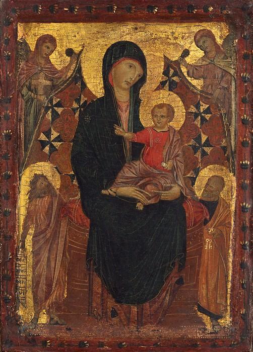 Чимабуэ - Мадонна с младенцем со святыми Иоанном Крестителем и Петром. Национальная галерея искусств (Вашингтон) (Приписывается)