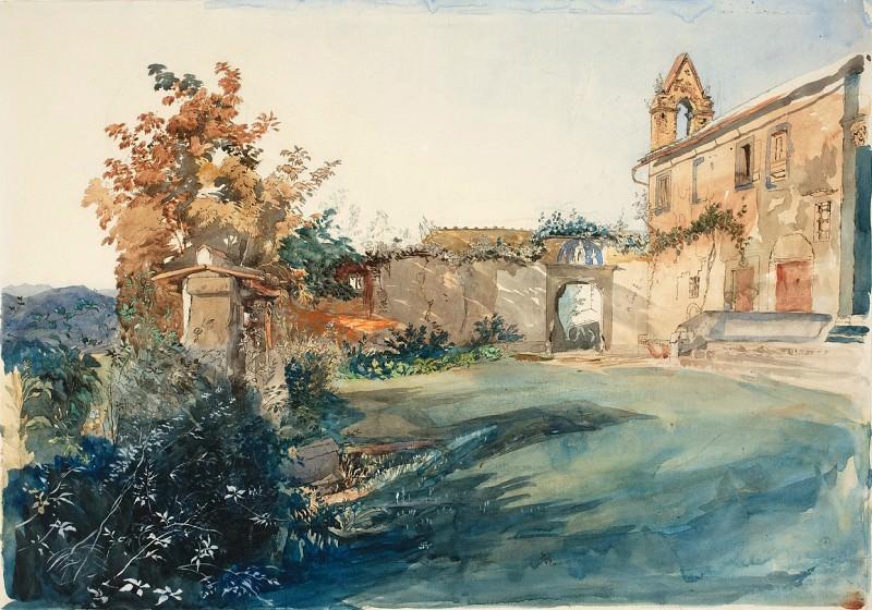 John Ruskin - The Garden of San Miniato near Florence. National Gallery of Art (Washington)
