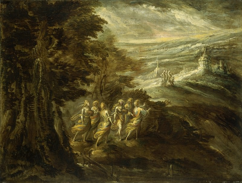 Emilian 16th Century - Fantastic Landscape with Figures. National Gallery of Art (Washington)