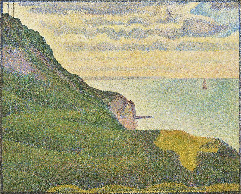 Georges Seurat - Seascape at Port-en-Bessin, Normandy. National Gallery of Art (Washington)