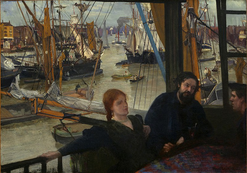 James McNeill Whistler - Wapping. National Gallery of Art (Washington)