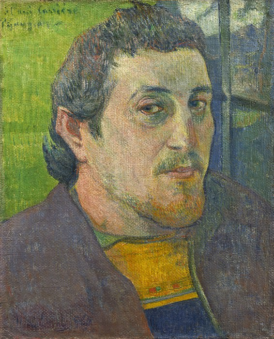 Paul Gauguin - Self-Portrait Dedicated to Carriere. National Gallery of Art (Washington)