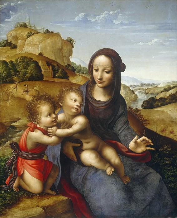 Attributed to Fernando Yanez de la Almedina - Madonna and Child with the Infant Saint John. National Gallery of Art (Washington)
