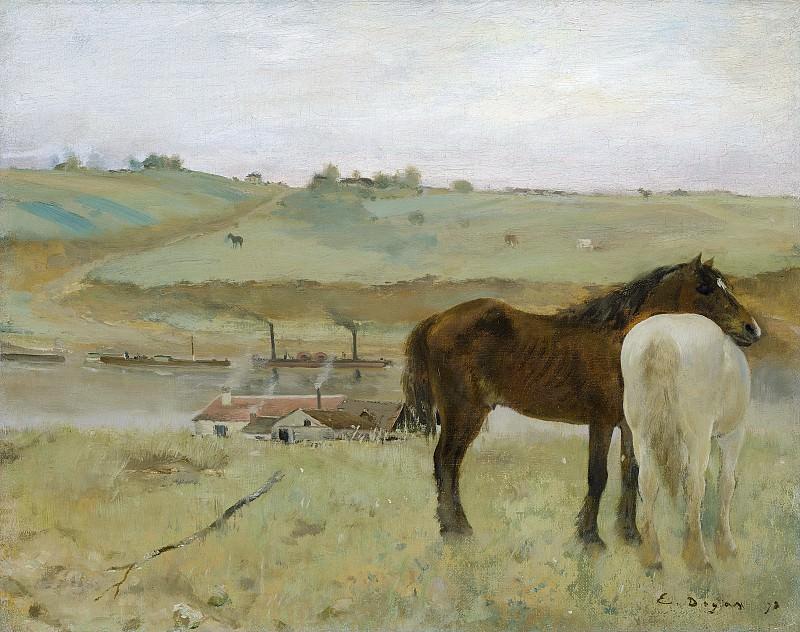 Edgar Degas - Horses in a Meadow. National Gallery of Art (Washington)