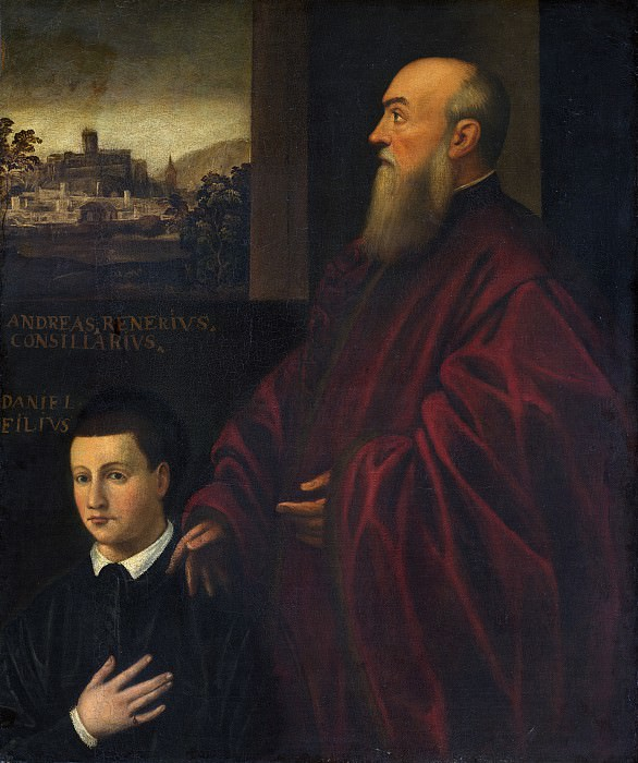 Follower of Jacopo Tintoretto - Portrait of a Man and Boy. National Gallery of Art (Washington)