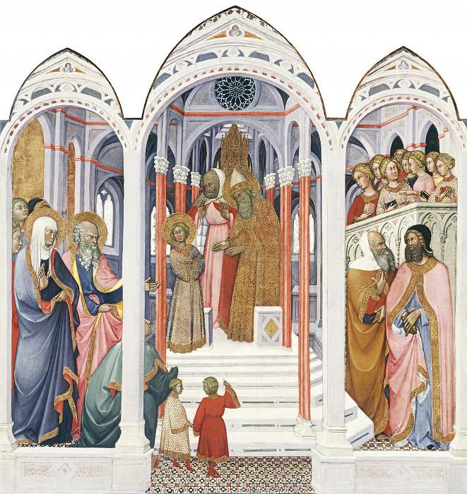 Паоло ди Джованни Феи - Введение во Храм Пресвятой Богородицы. Национальная галерея искусств (Вашингтон)