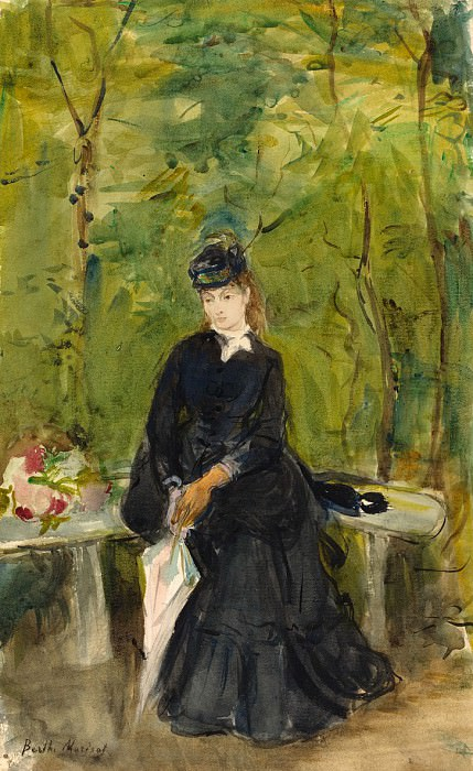 Berthe Morisot - The Artist's Sister Edma Seated in a Park. National Gallery of Art (Washington)