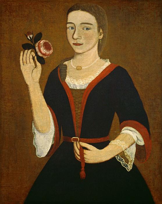 The Gansevoort Limner (Possibly Pieter Vanderlyn) - Miss Van Alen. National Gallery of Art (Washington)
