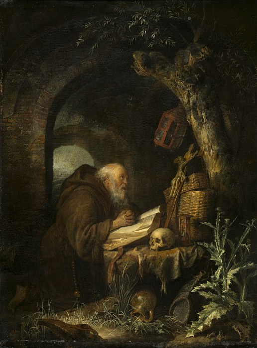 Gerrit Dou - The Hermit. National Gallery of Art (Washington)