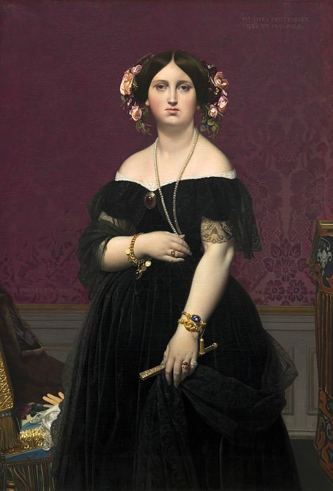 Jean-Auguste-Dominique Ingres - Madame Moitessier. National Gallery of Art (Washington)