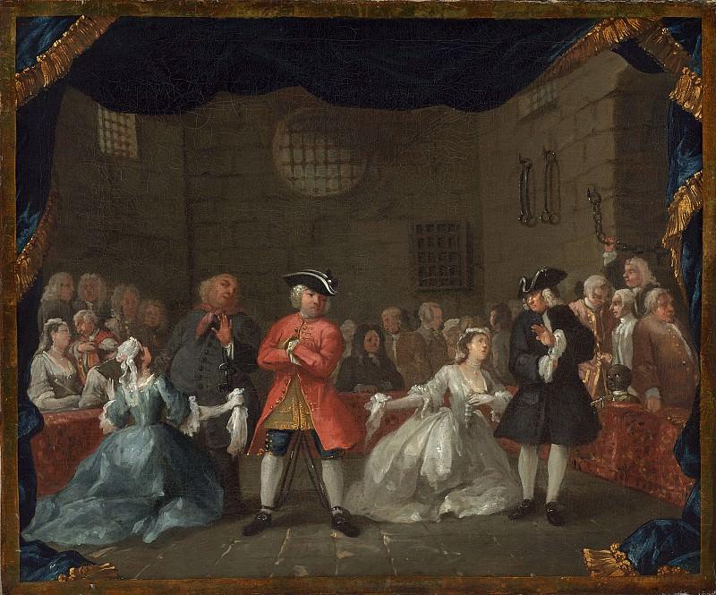 Хогарт, Уильям - Сцена из ´Оперы нищих´. Национальная галерея искусств (Вашингтон)