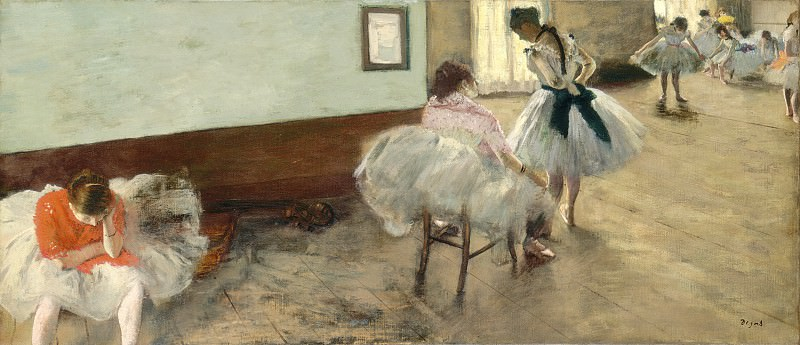 Edgar Degas - The Dance Lesson. National Gallery of Art (Washington)