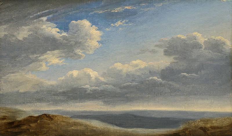 Pierre-Henri de Valenciennes - Study of Clouds over the Roman Campagna. National Gallery of Art (Washington)