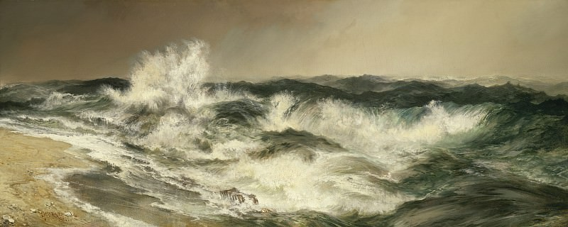 Thomas Moran - The Much Resounding Sea. National Gallery of Art (Washington)