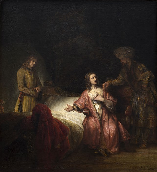 Rembrandt Workshop - Joseph Accused by Potiphar's Wife. National Gallery of Art (Washington)