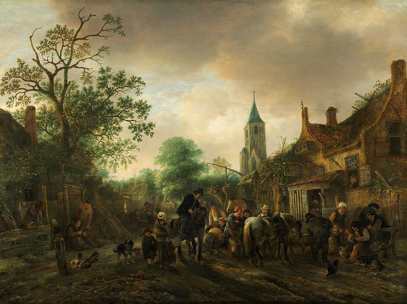 Isack van Ostade - The Halt at the Inn. National Gallery of Art (Washington)