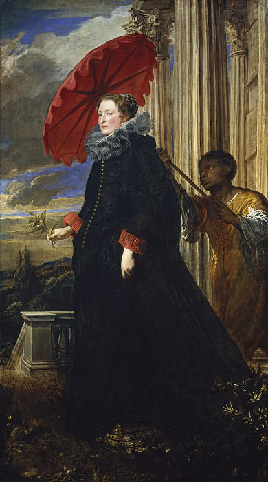 Sir Anthony van Dyck - Marchesa Elena Grimaldi Cattaneo. National Gallery of Art (Washington)