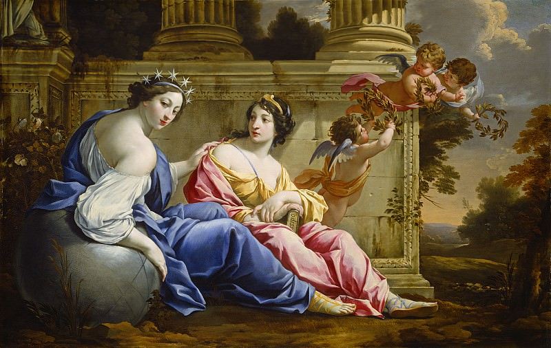 Simon Vouet and Studio - The Muses Urania and Calliope. National Gallery of Art (Washington)