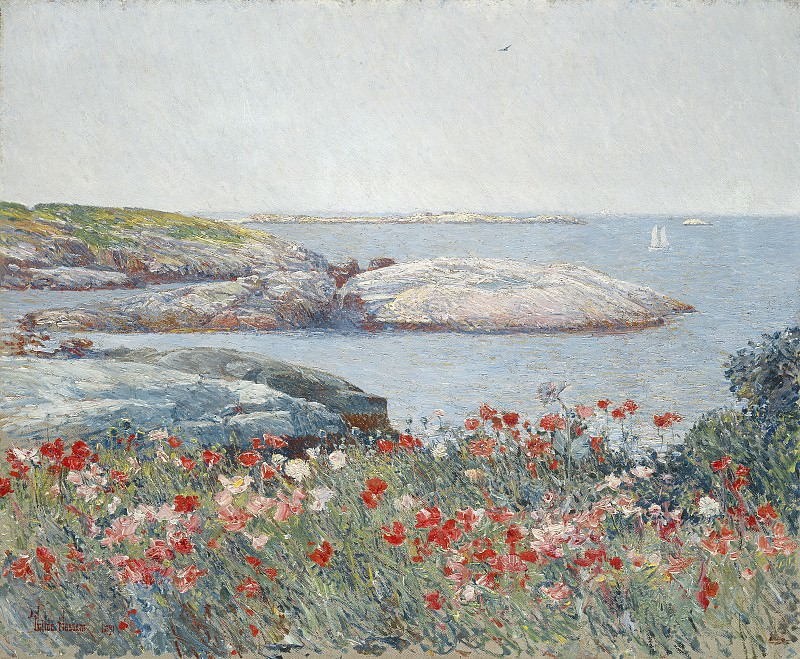 Childe Hassam - Poppies, Isles of Shoals. National Gallery of Art (Washington)
