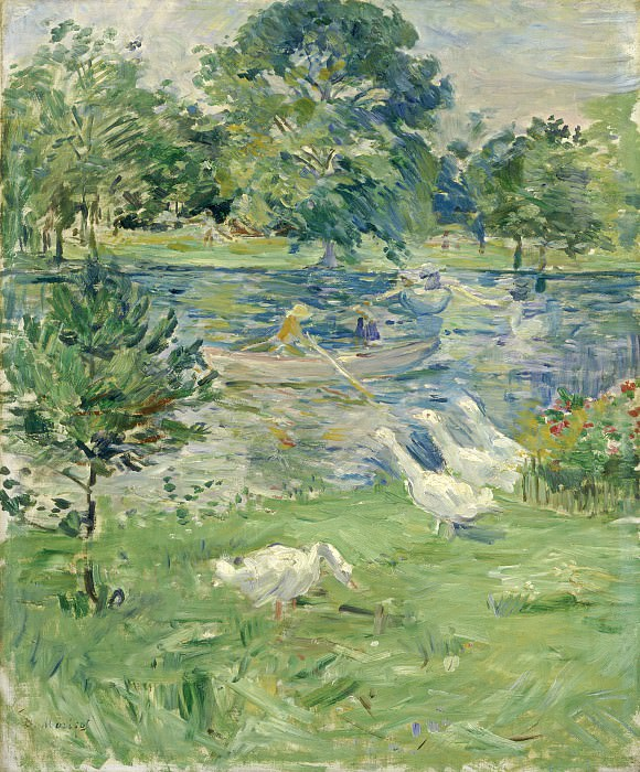 Berthe Morisot - Girl in a Boat with Geese. National Gallery of Art (Washington)