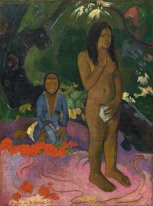 Paul Gauguin - Parau na te Varua ino (Words of the Devil). National Gallery of Art (Washington)