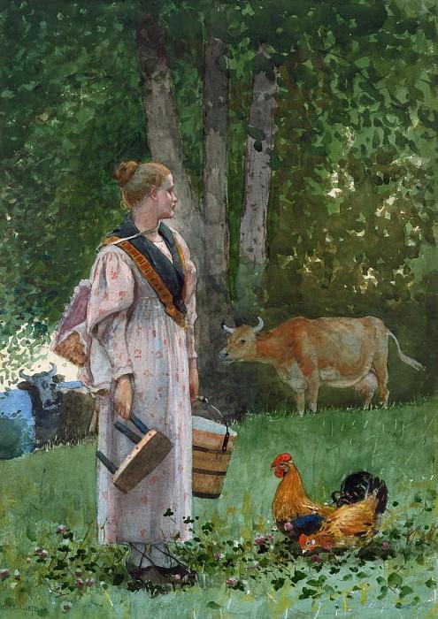 Winslow Homer - The Milk Maid. National Gallery of Art (Washington)