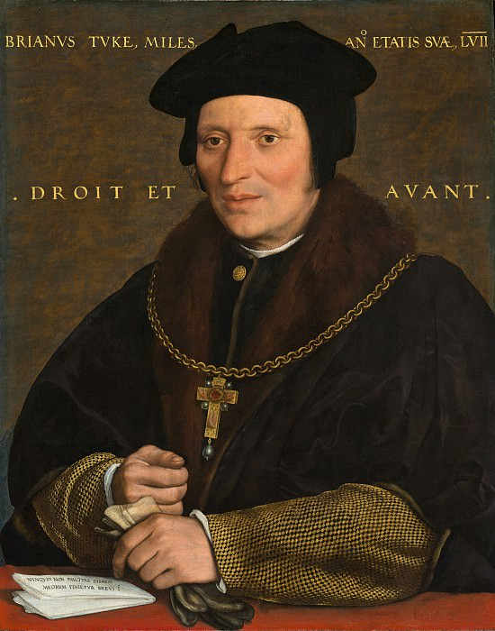 Hans Holbein the Younger - Sir Brian Tuke. National Gallery of Art (Washington)