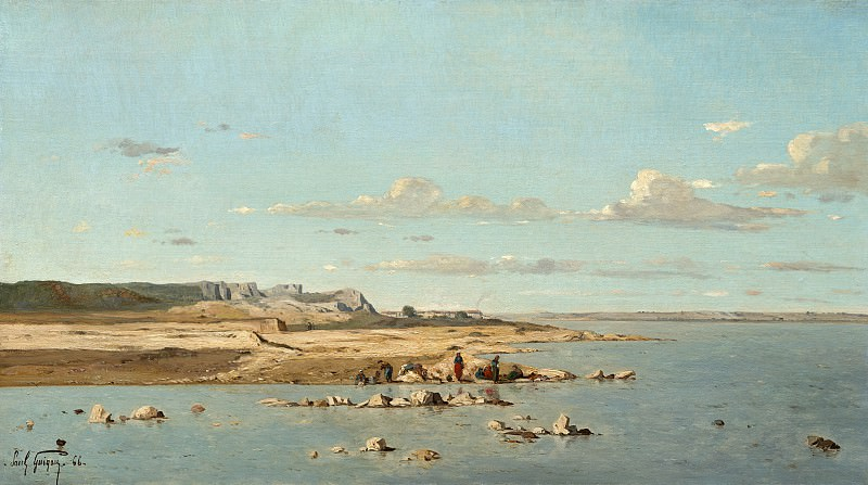 Paul Guigou - Washerwomen on the Banks of the Durance. National Gallery of Art (Washington)