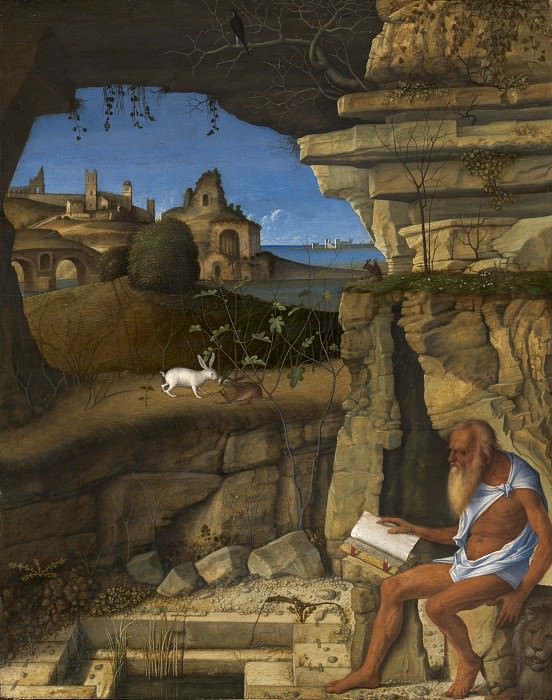 Saint Jerome Reading. Giovanni Bellini
