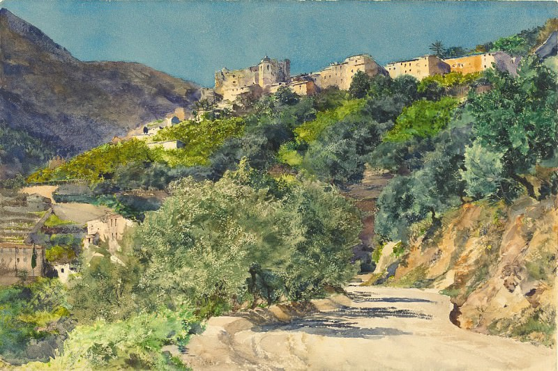 Jules-Ferdinand Jacquemart - Sun-Drenched Hills near Menton. National Gallery of Art (Washington)