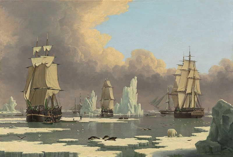 John Ward of Hull - The Northern Whale Fishery: The «Swan» and «Isabella». National Gallery of Art (Washington)