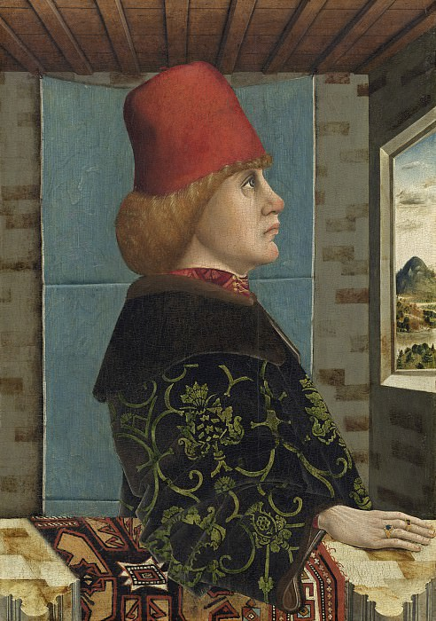 Тирольский мастер 15 века - Мужской портрет. Национальная галерея искусств (Вашингтон)
