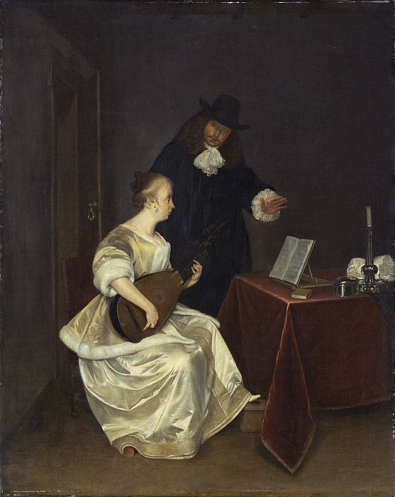 Studio of Gerard ter Borch the Younger - The Music Lesson. National Gallery of Art (Washington)