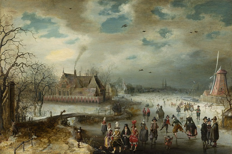 Adam van Breen - Skating on the Frozen Amstel River. National Gallery of Art (Washington)