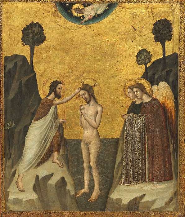 Master of the Life of Saint John the Baptist - The Baptism of Christ. National Gallery of Art (Washington)