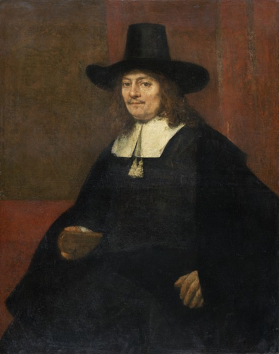 Rembrandt van Rijn - Portrait of a Man in a Tall Hat. National Gallery of Art (Washington)