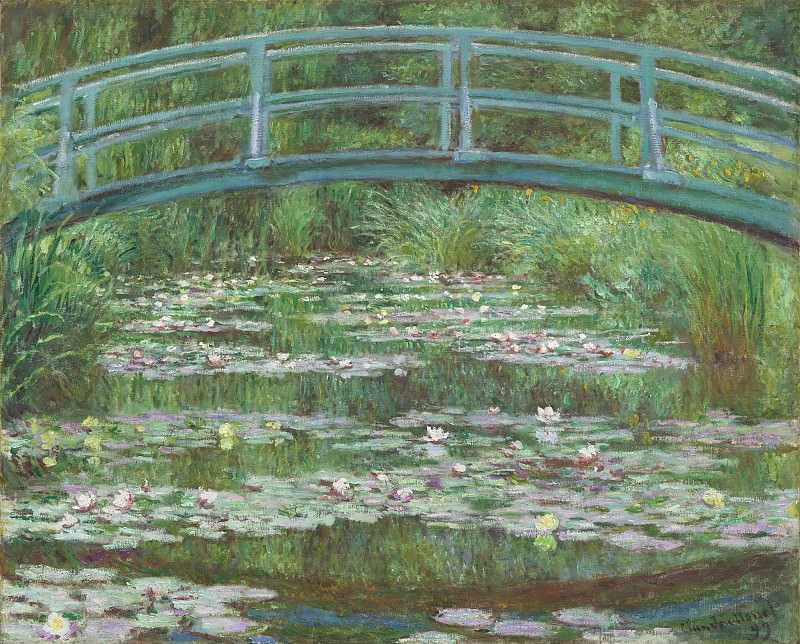 Claude Monet - The Japanese Footbridge. National Gallery of Art (Washington)