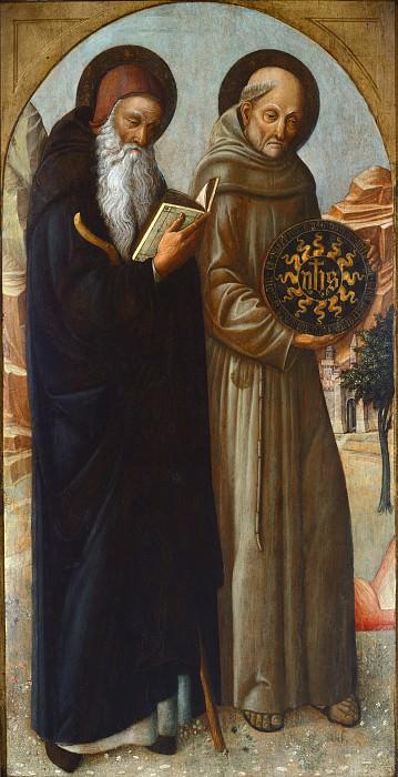 Jacopo Bellini - Saint Anthony Abbot and Saint Bernardino of Siena. National Gallery of Art (Washington)