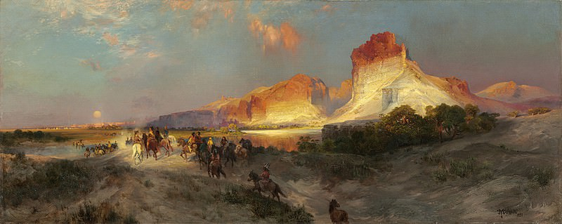 Thomas Moran - Green River Cliffs, Wyoming. National Gallery of Art (Washington)