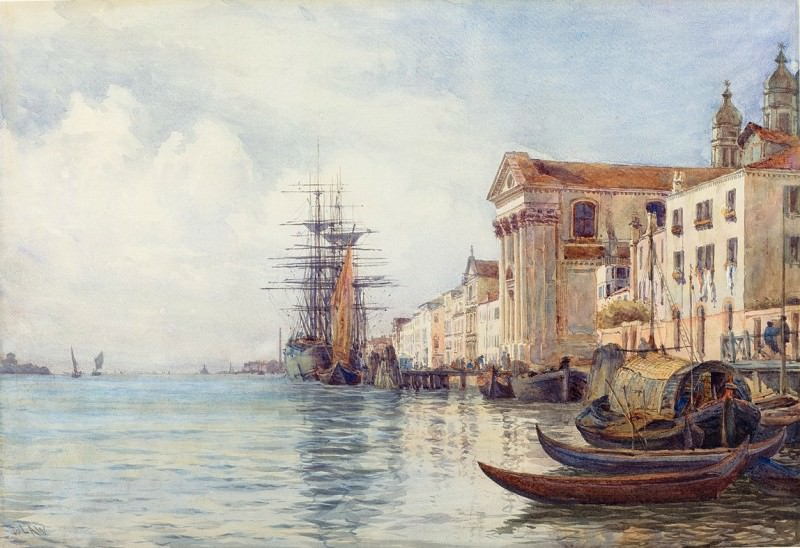 David Law - The Giudecca Canal with Shipping near the Chiesa dei Gesuati. National Gallery of Art (Washington)